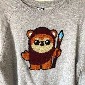 Star Wars Ewok Fuzzy Pullover Sweatshirt Man Woman